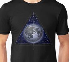 Moon in galactic space Unisex T-Shirt