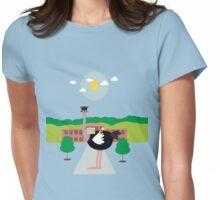 Smart ostrich Womens Fitted T-Shirt