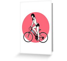 woman sporty  Greeting Card