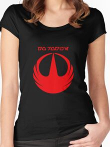 i REBEL- Rogue One Women's Fitted Scoop T-Shirt