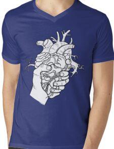 Heart in the hand Mens V-Neck T-Shirt