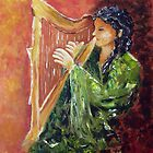 Harp Player by Halina Plewak
