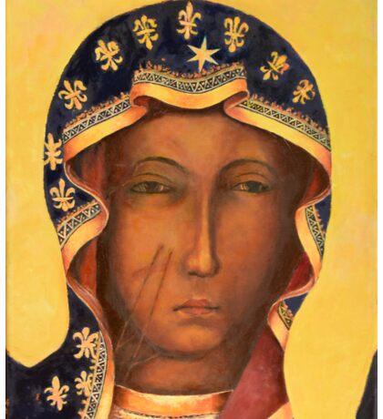 Polish Black Madonna, Our Lady of Czestochowa, Madonna and Child Sticker