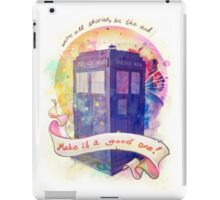 We're all stories (white) iPad Case/Skin