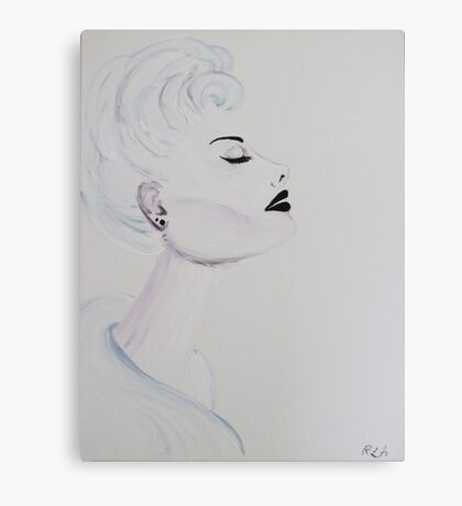 Lady In White Painting Canvas Print