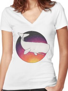 Doomed Whale No. 42 Women's Fitted V-Neck T-Shirt