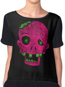 Pink Zombie Chiffon Top