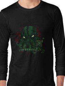 Kiss Me Quick (Cthulhu) Long Sleeve T-Shirt