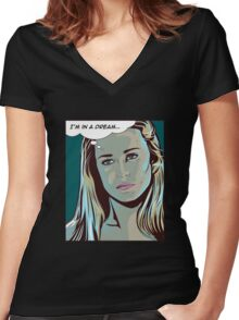 I'm in a dream - Dolores, Westworld Women's Fitted V-Neck T-Shirt