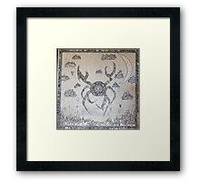 Cyber Crab Framed Print