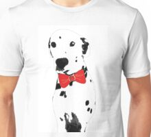 Red Bow Dalmatian Unisex T-Shirt