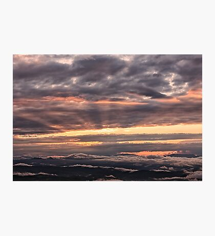 Majestic sky from Monte Nerone, Italy Photographic Print