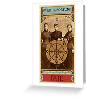 The Wheel of Fortune  Greeting Card
