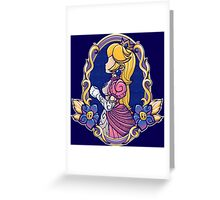 Stained-Glass Peach Greeting Card