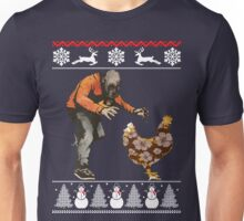 Merry Christmas Leroy vs The Evil Zombie Chicken T-Shirt Unisex T-Shirt