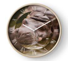 Huge bored hippo Clock