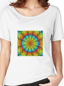 Ribbons Gradient - Blue | Cyan | Yellow | Orange | Red | Black Women's Relaxed Fit T-Shirt