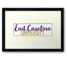 East Carolina University Framed Print