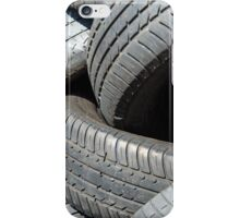 Old car tyres waiting for recycling. iPhone Case/Skin