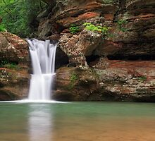 Upper Falls at Old Man's Cave by Kenneth Keifer