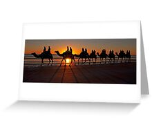 CAMELS ON CABLE Greeting Card