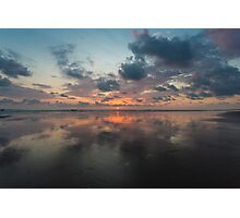 Sunset on the beach of Matapalo in Costa Rica Photographic Print