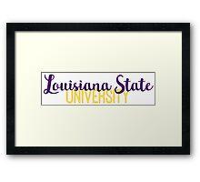 Louisiana State University Framed Print