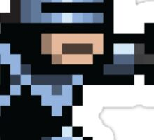 8-Bit Robotic Cop Sticker