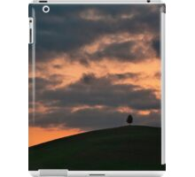 Lonely tree at sunset iPad Case/Skin