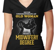 Midwifery degree Women's Fitted V-Neck T-Shirt