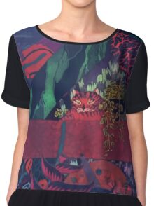 GLASS ANIMALS // BLACK MAMBO Chiffon Top