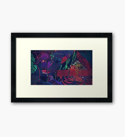 GLASS ANIMALS // BLACK MAMBO Framed Print