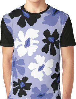 Rumpled Floral Print Graphic T-Shirt
