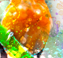 Vibrant Watercolor Bird [0.1] Sticker