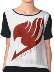 Fairy tail logo (Red) Chiffon Top
