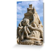 Sand Sculpture ~ a Tribute to Jules Verne Greeting Card