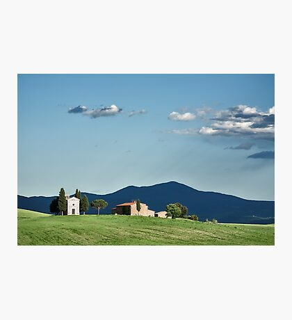 Vitaleta chapel in Val d'Orcia, Tuscany Photographic Print