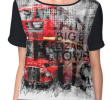 Graphic Art LONDON WESTMINSTER Buses | Typography Chiffon Top