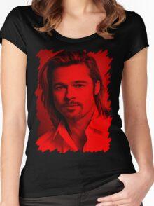 Brad Pitt - Celebrity Women's Fitted Scoop T-Shirt