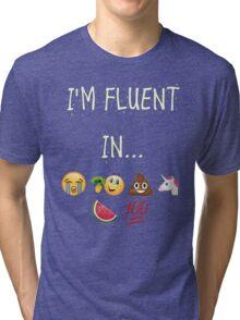I Speak emoji Tri-blend T-Shirt
