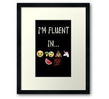 I Speak emoji Framed Print