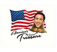 America's National Treasure - Black Text Art Print