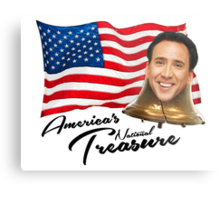 America's National Treasure - Black Text Metal Print