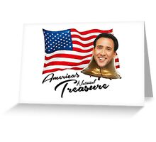 America's National Treasure - Black Text Greeting Card