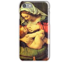 Madonna and Child, Virgin Mary Painting by Solario iPhone Case/Skin