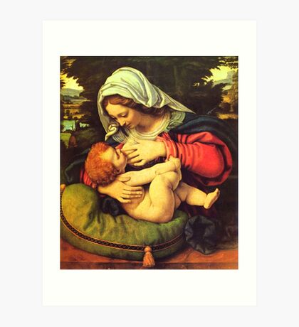 Madonna and Child, Virgin Mary Painting by Solario Art Print