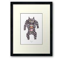 MEGA CAT LADY! Framed Print