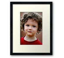 Exactly As He Is... Framed Print