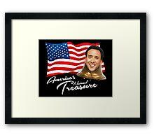 America's National Treasure - White Text Framed Print