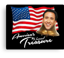 America's National Treasure - White Text Canvas Print